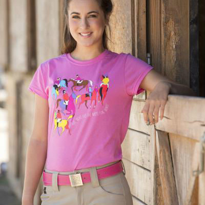 ILLUSTRATION FITS Equestrian tshirt
