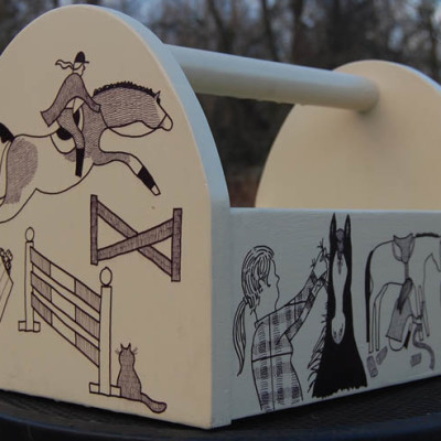ILLUSTRATION Tack Box for Georgia Dressage and Combined Training Association